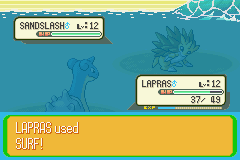 Pokemon Naranja (v2) - lapras pwning sandslash hard - User Screenshot