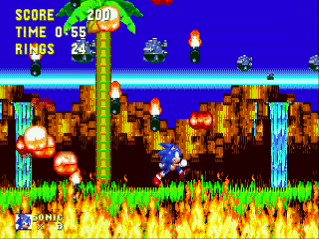 Sonic and Knuckles & Sonic 3 - STOP! YOUR BURNING THE LANDSCAPE! - User Screenshot