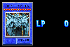 Yu-Gi-Oh! - The Sacred Cards - game over - User Screenshot