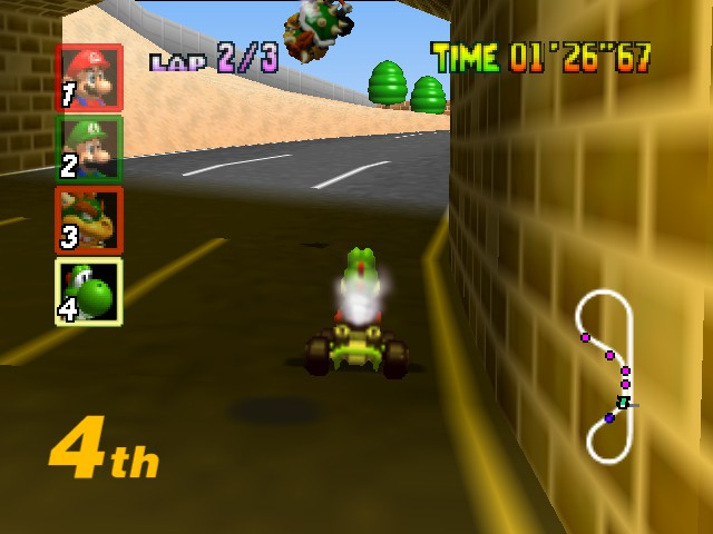 Mario Kart 64 - Wee he can fly! - User Screenshot