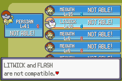 Pokemon Flora Sky - Complement Dex Version - Character Select  - A CANDLE CANT LEARN FLASH ARE U KIDDEN ME - User Screenshot
