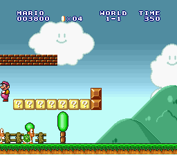 Super Mario All-Stars - Koopa 1; Mario is pink Koopa 2; And yellow  - User Screenshot