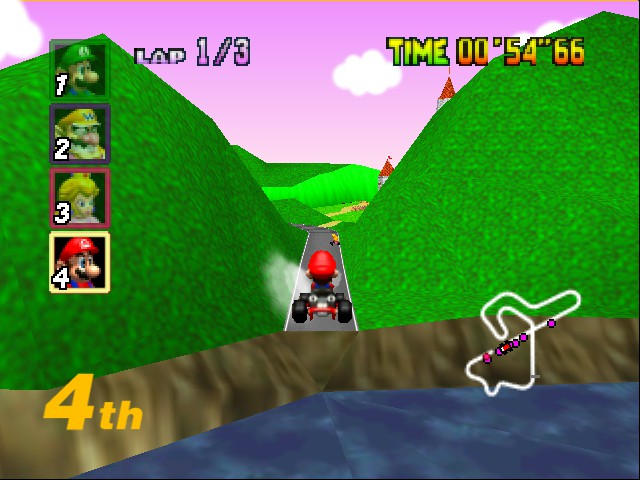 Mario Kart 64 - WAHHHHHHHHHHHHHHHHHHHH!!!!!!!!!!!!!!!!!!!! - User Screenshot