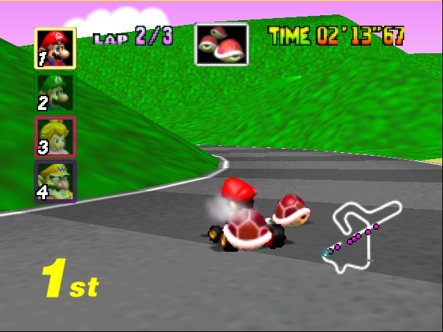 Mario Kart 64 - Tripple Reds in 1st place :p - User Screenshot