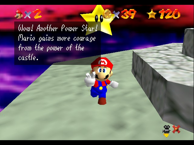 Super Mario 64 - Cut-Scene  - 120st Star! - User Screenshot