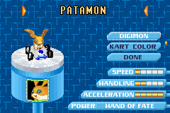 Digimon Racing - Character Select  -  - User Screenshot