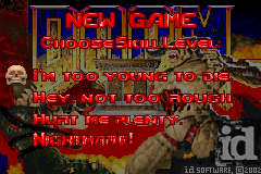 Doom II - Misc Difficulty Select -  - User Screenshot