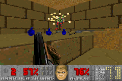 Doom II - Level 2 - Whoa! I blew his head off! - User Screenshot