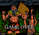 Mummy Returns - Gameover  - Game Over Screen 1 - User Screenshot
