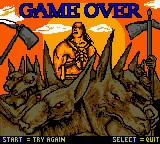 Mummy Returns - Gameover  - Game Over Screen 2 - User Screenshot