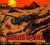 Mummy Returns - Gameover  - Game Over Screen 3 - User Screenshot