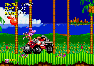 Amy Rose in Sonic the Hedgehog 2 - Level Act 3 - Eat hammer, Eggman! - User Screenshot