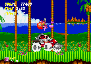 Amy Rose in Sonic the Hedgehog 2 - Level Act 3 - Fancy Hammer Flip! - User Screenshot