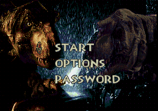 The Lost World - Jurassic Park - Menus Title Screen -  - User Screenshot