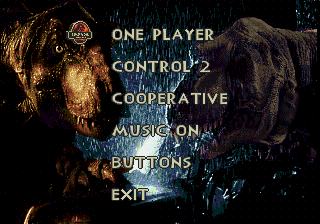 The Lost World - Jurassic Park - Menus Options -  - User Screenshot