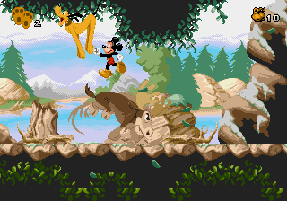 Mickey Mania - The Timeless Adventures of Mickey Mouse - Level 3 - Dang moose! - User Screenshot
