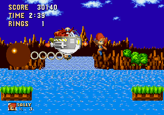 Sally Acorn in Sonic the Hedgehog - Level Level 1, Act 3 - Eat lead, Robotnik! - User Screenshot