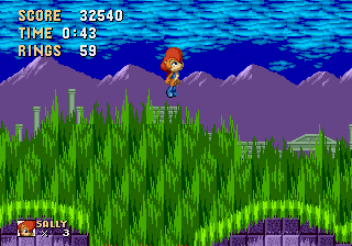 Sally Acorn in Sonic the Hedgehog - Level Level 2, Act 1 -  - User Screenshot
