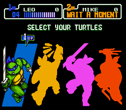 Teenage Mutant Ninja Turtles - Return of the Shredder - Leonardo leads! - User Screenshot