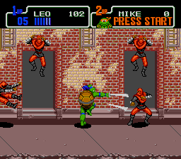 Teenage Mutant Ninja Turtles - Return of the Shredder - Level  - GO POWER!!!! - User Screenshot