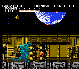 Godzilla - Monster of Monsters! - Level 1 - The Earth -  - User Screenshot