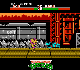 Teenage Mutant Ninja Turtles - Tournament Fighters - Level 2 - Glitchy throw - User Screenshot
