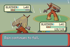 Pokemon Emerald 386 - I think that Blaziken will win - User Screenshot