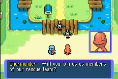 Pokemon Mystery Dungeon - Red Rescue Team - Charmander Shy - User Screenshot