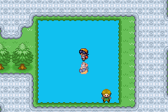 Pokemon Blue Sea Edition - im standing on water - User Screenshot