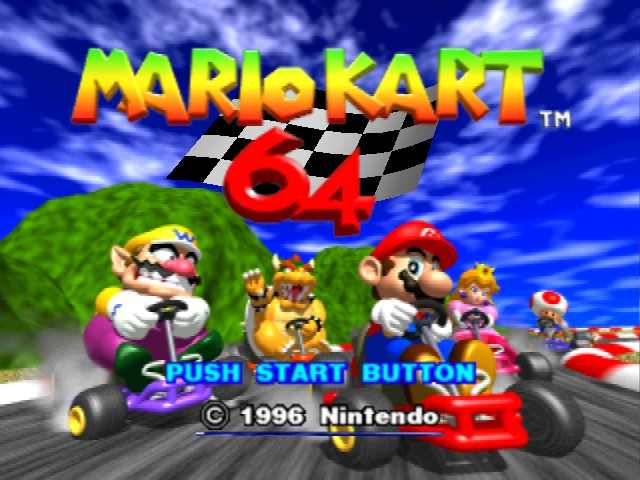 Mario Kart 64 - Menus Title Screen - Hi Bowser!  - User Screenshot