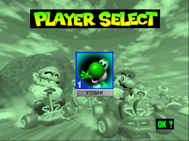 Mario Kart 64 - Character Select  - Yoshi, I CHOOSE YOU!  - User Screenshot