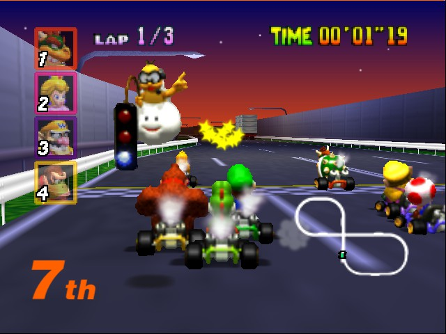 Mario Kart 64 - Level Toad - Move it Luigi and DK!  - User Screenshot