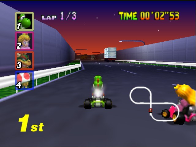 Mario Kart 64 - Level Toad - See ya later peach.  - User Screenshot
