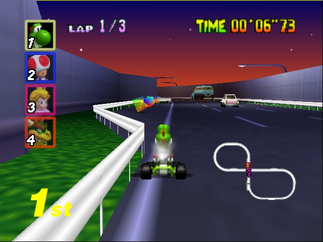 Mario Kart 64 - Level Toad - Gonna get all 4 so nobody else can get them.  - User Screenshot