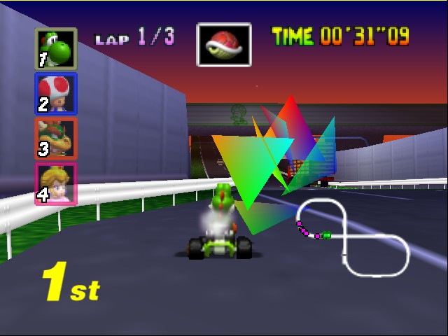 Mario Kart 64 - Level Toad - Got all 4!  - User Screenshot