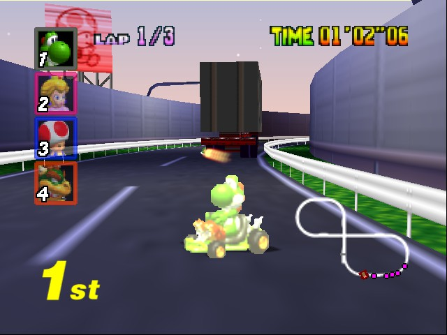 Mario Kart 64 - Level Toad - THUNDERSTRUCK!  - User Screenshot