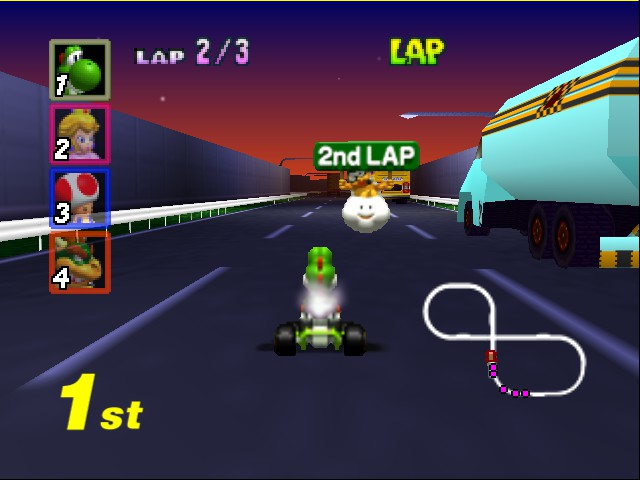 Mario Kart 64 - Level Toad - only the 2nd lap? O.o -_- - User Screenshot
