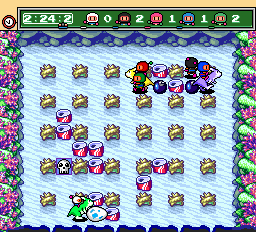 Bomberman (blue) -Level Underwater:DIE KANGAROO EGG - User Screenshot