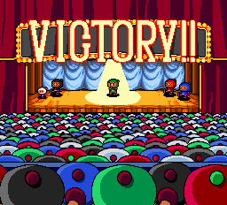 Bomberman (blue) -Gameover :Green wins  - User Screenshot