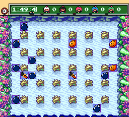 Bomberman (blue) -Level Underwater:A draw? already? - User Screenshot