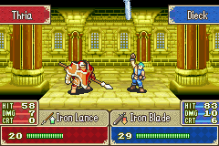 Fire Emblem - Fuuin no Tsurugi (english translation) - Watch out the swords gonna land on you! - User Screenshot