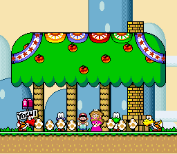 Super Mario World - Peach was pregnat and layed 7 Yoshi Eggs! - User Screenshot