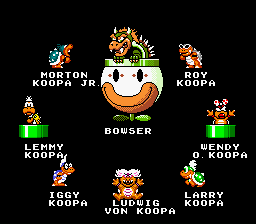 Super Mario World - All of the koopas-the 7 deadly sins - User Screenshot