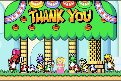 Super Mario Advance 2 - Super Mario World - Ending  - No, thank you - User Screenshot