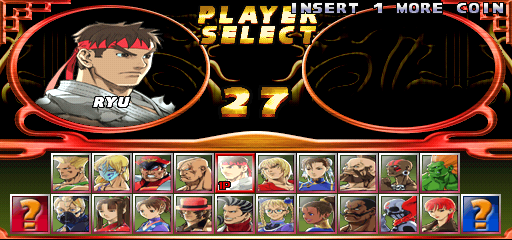 Street Fighter EX 2 Plus (USA 990611) - Character Select  -  - User Screenshot