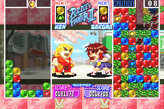 Super Puzzle Fighter II Turbo - Ken laughing at Sakura - User Screenshot