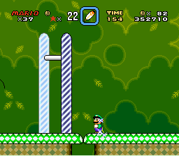 Super Mario World - Level  - Over the goal? - User Screenshot