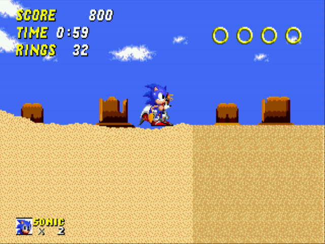 Sonic 2 - The Lost Worlds - Quicksand: 9 - User Screenshot