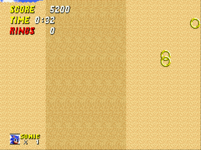 Sonic 2 - The Lost Worlds - Quicksand: 4 (2nd death >_ - User Screenshot