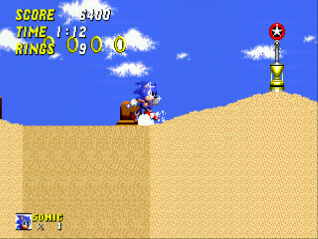Sonic 2 - The Lost Worlds - Quicksand: 6 Sonic: THAT was close. - User Screenshot